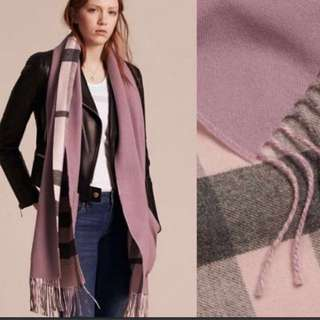 Burberry scarf (with gift box ) mark down 清貨
