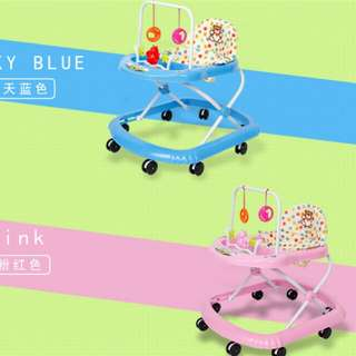 Baby Walker/with music/got toys /great quality in pink+blue