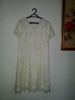 Baju burkat putih L To XL