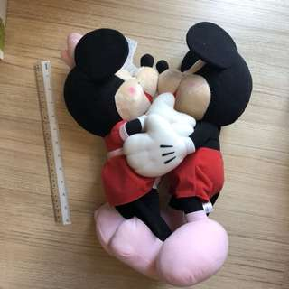 Clearance: 30cm Mickey & Minnie Mouse Plush Toy
