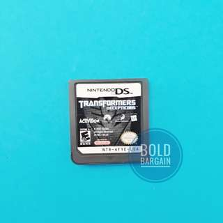 Authentic Nintendo Game Cartridge TRANSFORMERS DECEPTICONS For DS 3DS DSi Game Cartridge