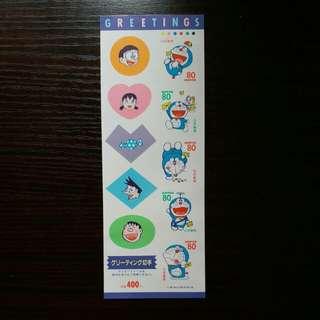 90年代日本叮噹郵票貼紙