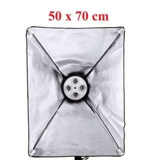 PXEL SB-4B-50X70 4 E27 Socket Light Bulb Holder ww Softbox 50x70 cm