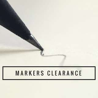 MARKERS CLEARANCE