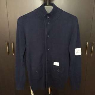 ZARA MAN Navy Blue Sweater
