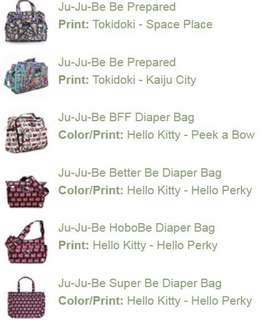 Jujube Hello Kitty and Tokidoki Pre Order - gauging interest
