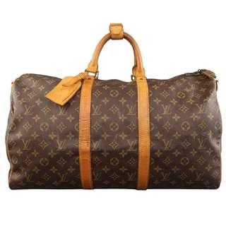 Vintage LOUIS VUITTON Brown Monogram Canvas & Leather