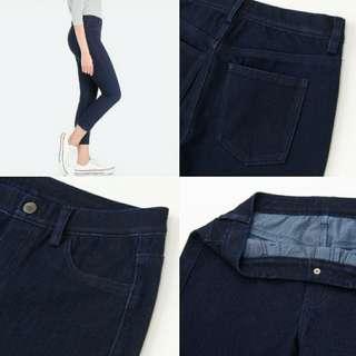 UNIQLO Cropped Leggings Pants (Womens, Denim)