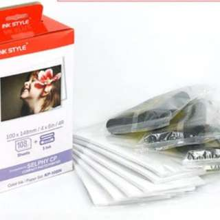 BNIB Canon Selphy Ink Set & Photo Papers !