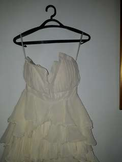 Party dress white creme size S To M