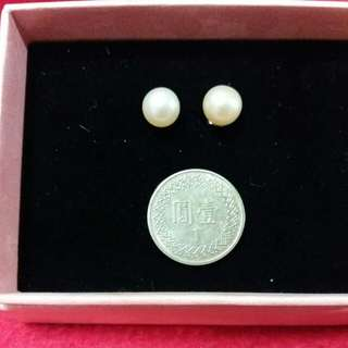 氣質k金珍珠耳環