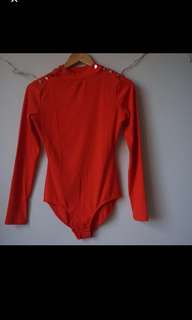 SEED Heritage Ribbed Bodysuit Long Sleeve size S (size 8-10)