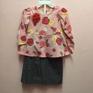 REDUCE!! Baju Kurung Baby(peplum)🆕