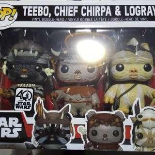 Funko Starwars ( Teebo, Chief Chirpa & Logray)