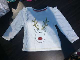 Mothercare Christmas Reindeer design sleeves