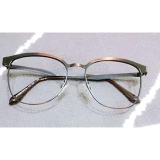 文青風質感金屬假框眼鏡