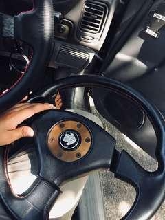 Mitsubishi Evo 3 momo steering
