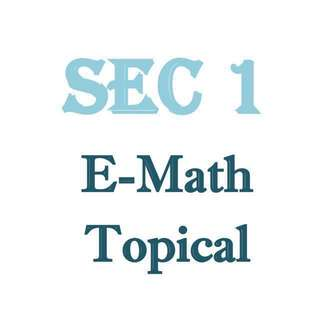Secondary 1 E Math Topical Revision Package / exam papers / top school papers / VS