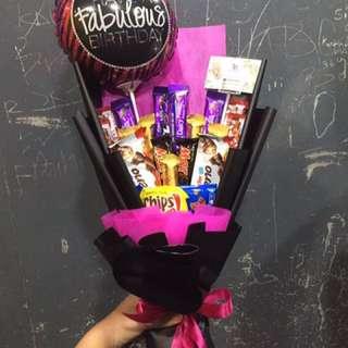 Chocolate Bouquet + mini foil