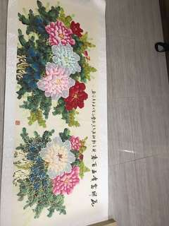 Chinese material flower arts, Size:1800x850