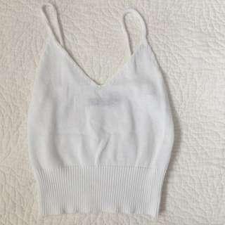 GLASSONS - white KNIT TANK, size xs