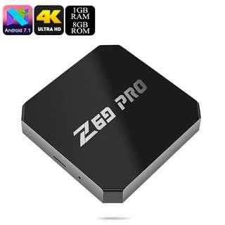 Z69 Max Pro Android TV Box - Quad Core CPU, Android 7.1, 4K, H.265 Decoding, Wi-Fi (CVAIA-E867-8GB)