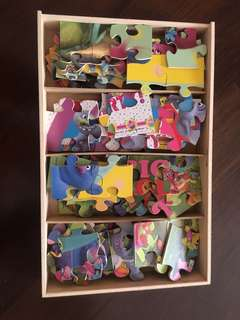 Trolls Wooden Puzzles (Set of 7 Puzzles)