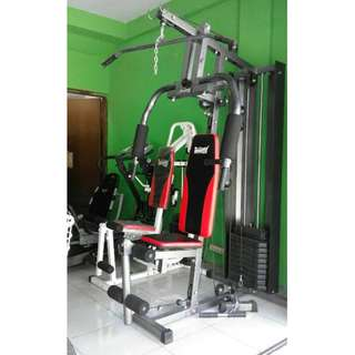 Total Fitness TL 008 Home Gym 1 Sisi Alat Fitness - Beban [75 kg]