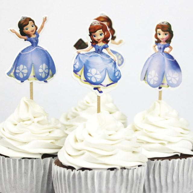 Magnificent 12 Pcs Sofia The First Disney Princess Cupcake Toppers Cake Topper Personalised Birthday Cards Cominlily Jamesorg