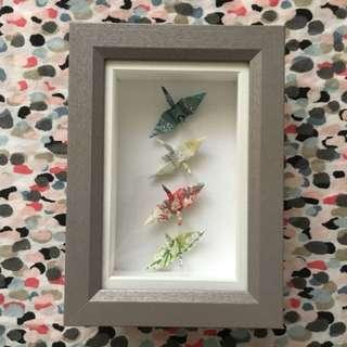 Origami crane picture display