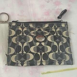 Coach key and coin purse