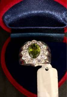 Genuine Peridot Gemstone Ring