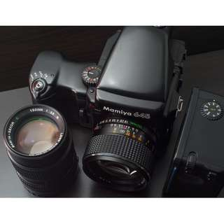 Mamiya 645 Pro with lenses