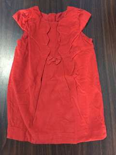 Mothercare Red Suede baby dress