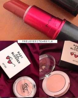On Sale! MAC lipstick + blush on (TAKE ALL)