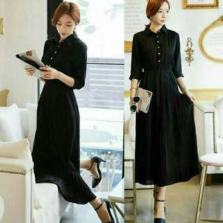 MAXI FASHION  bahan twiscone, fit to XL, ld 100 pjg 120, pinggang karet, lengan pjg