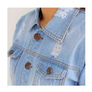 NEW Zara Ripp Jaket jeans