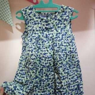 Dress Cool Baby Blue Flower
