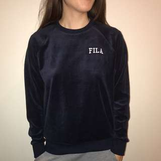 Brand New with tags FILA velour sweatshirt in Navy
