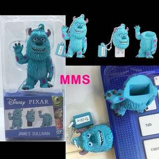 正版 Disney 迪士尼 怪獸公司 怪獸大學 毛毛 SULLEY 16GB USB 手指 USB Flash Drive