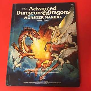 ADVANCED DUNGEONS & DRAGONS MONSTER MANUAL - RPG FANTASY HARD COVER