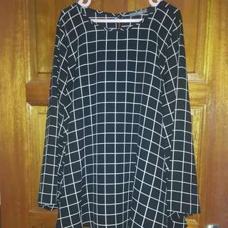 Poplook curve Plus size checkered blouse