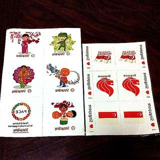 SG National Day Tattoo Stickers