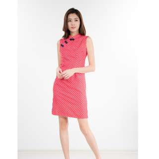 JILL DOTTY CHEONGSAM IN RED - NINTH COLLECTIVE (S)