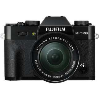 Kredit Dp 10% Fujifilm X-T20 Mirrorless with 16-50mm - Cicilan tanpa kartu kredit