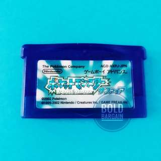 Authentic PoKeMon SAPPHIRE Version Nintendo Game Cartridge For DS Lite Game Boy Advance SP GBA