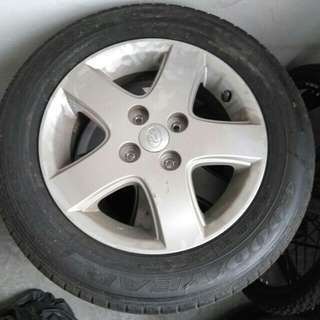 "Original myvi tire 14"" 80% good condition"