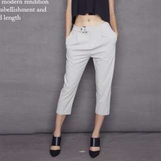 Smooch Bentley Buckled Pants in Grey