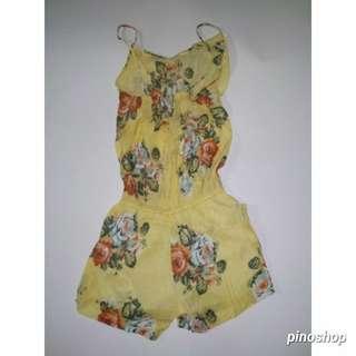 Jumpsuit summer yellow