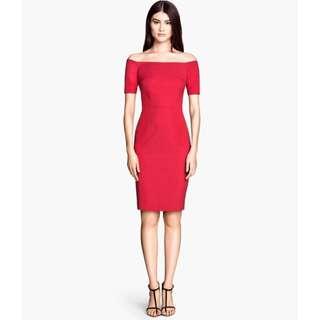 Brand New H&M cocktail off shoulder dress (size 32)